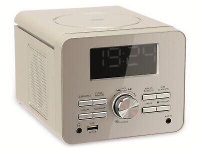 Uhrenradio CDR 274 mit CD-Player, silber, B-Ware (Uhr Mit Cd-player)