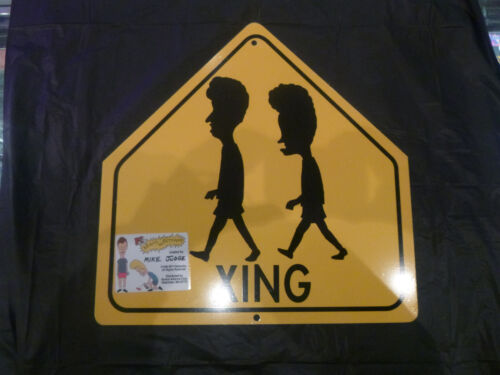 Beavis and Butthead novelty crossing sign