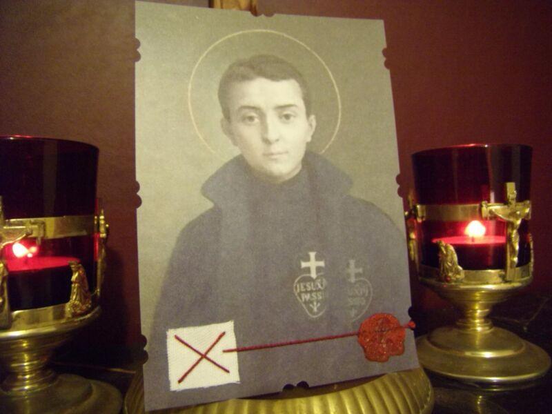 ST. GABRIEL POSSENTI Passionist Reliquary Card +Relic & Prayer