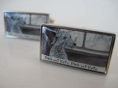 Park Not Vets Cufflinks -  The Little Dog Laughed