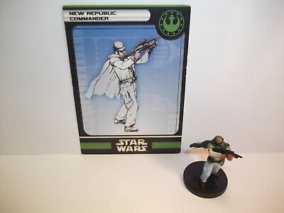 Star Wars Miniatures - New Republic Commander 54/60 + Card - Universe