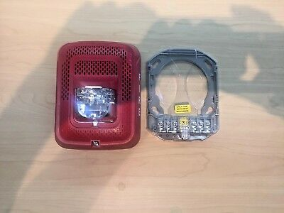 System Sensor Indoor Wall Sensor Fire Alarm Strobe Speaker Red Spsrl