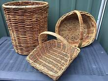 Cane basket, linen basket, basket with handle Bankstown Bankstown Area Preview
