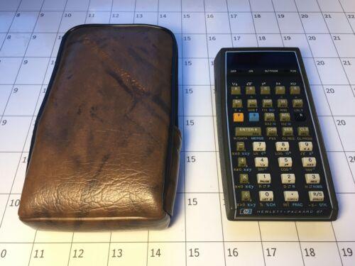 Hewlett Packard HP 67 Calculator + Case