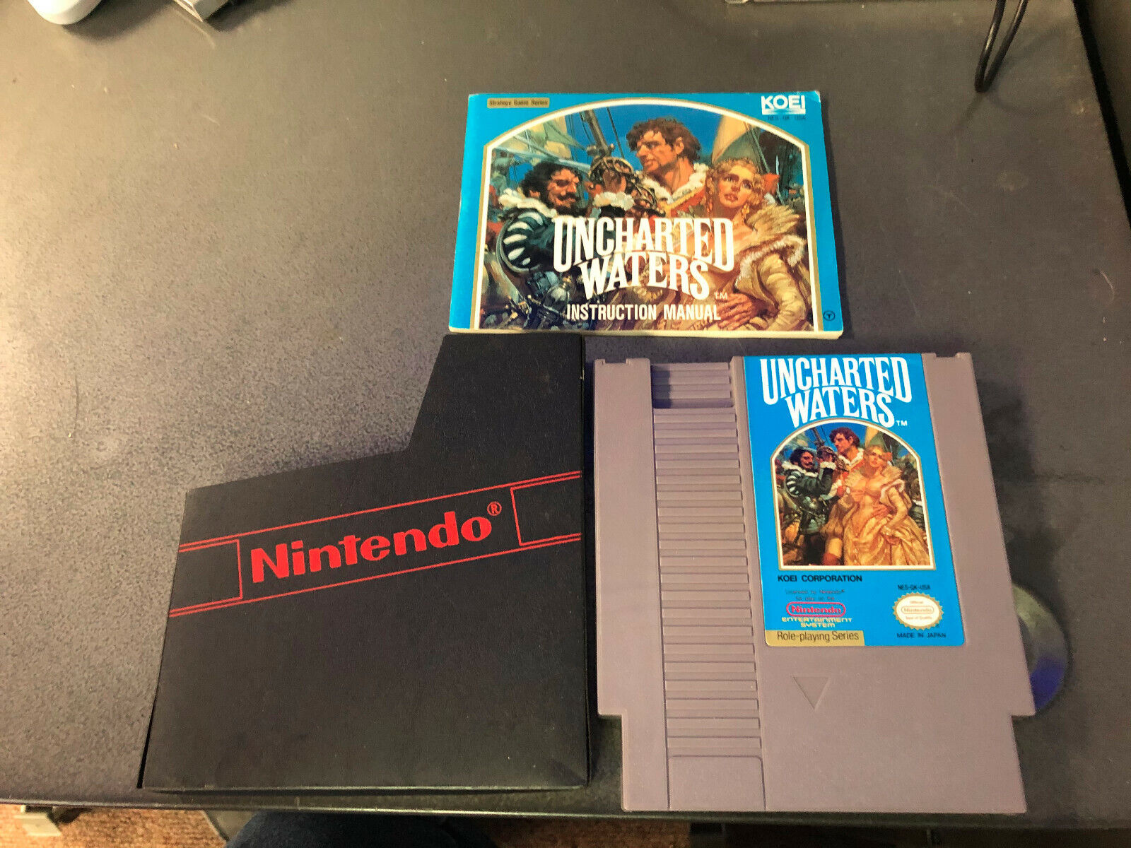 Uncharted Waters Nintendo Entertainment System NES, 1991 W/ Manual Authentic - $75.00