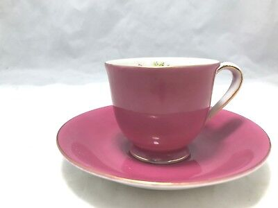 Vintage Demitasse Cup & Saucer (Gold China ) Occupied Japan, Hand painted