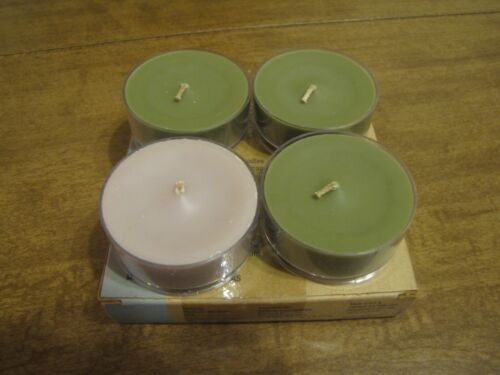 PARTYLITE BAMBOO MIST & 1 UNKNOWN LARGE TEALIGHT CANDLES