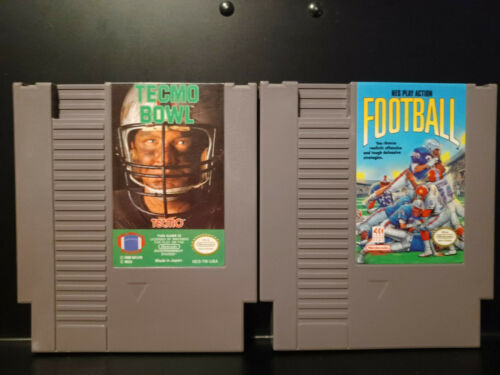 Tecmo Bowl and NES Play Action Football Lot (NES, 1989) TESTED, WORKING