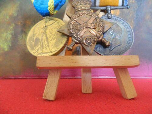 Medal, UK, Trio, 1914-15 Star, Victory, War Medal, W. H. Richardson, Engraved