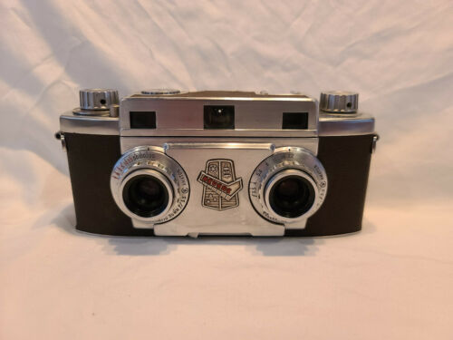 Revere Stereo 33 35mm Film Camera w Wollensak Amaton 35mm Lens - Working V17