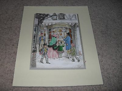 Hand made decoupage picture (Victorian shop)