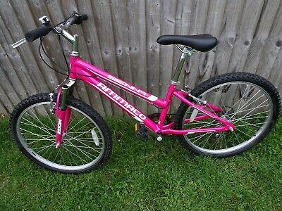 Ammaco Sienna 24' Wheels Frame 14' Pink Girl's Mountain Bike