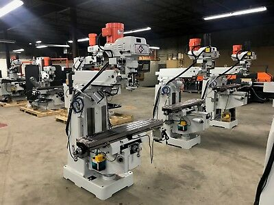 Kaast Dmv 10x50 Knee Milling Machine Dro Power Variable Sp New W Warranty