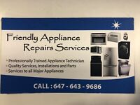 Appliance repair service  any where  and parts used and new