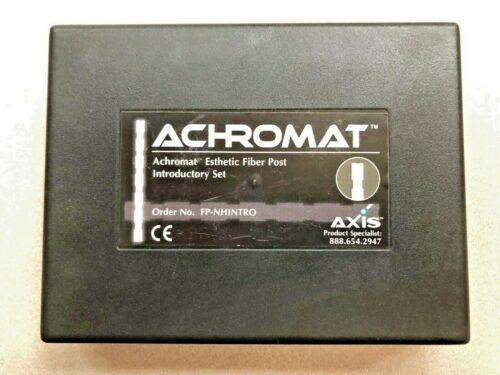 Axis Achromat Esthetic Fiber Post System Intro Kit - Non Arrowhead -NEW