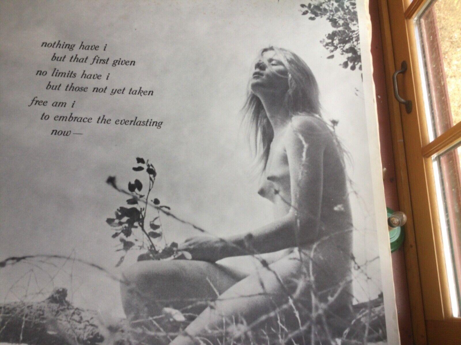 Vintage Poster Naked Girl - $40.00