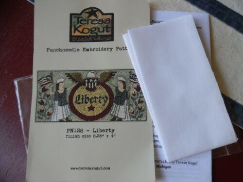 Teresa Kogut Liberty Punch Needle Pattern with weavers cloth