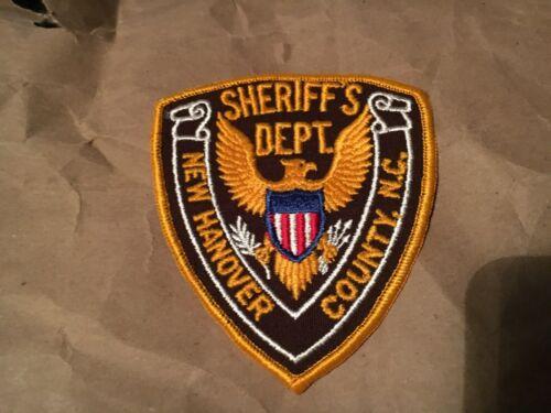 NEW HANOVER COUNTY SHERIFF NORTH CAROLINA POLICE patch NB