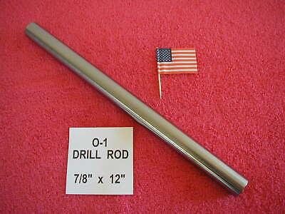 78 X 12 Drill Rod 0-1 Tool Steel Precision Ground .875 Machinist