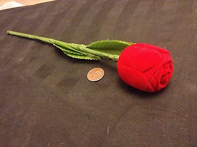 Rose Romantic Red Promise Engagement Ring Heart Shaped Jewelry Gift Box Stem