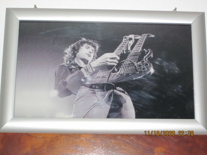 Jimmy Page Led Zeppelin Photo With Lighted Frame