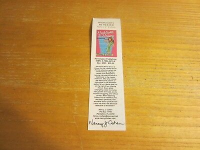 Nancy J. Cohen Author Autographed 2.25X8.5 Bookmark