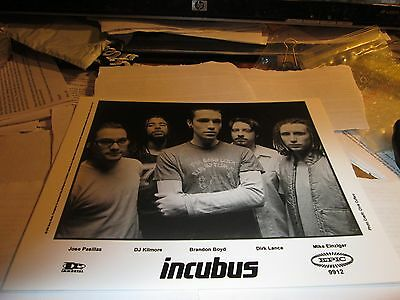 INCUBUS PROMOTION PHOTO VINTAGE  90'S PROMO SHOT 8 X 10 COLLECTABLE  OOP