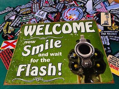 Tin Sign Smile For Flash Tin Sign 2129