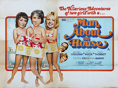 """Man about the House 1974 16"""" x 12"""" Reproduction Movie Poster Photograph"""