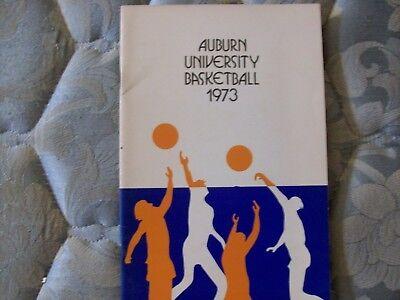 1972-73 AUBURN TIGERS BASKETBALL MEDIA GUIDE Yearbook 1973 Press Book College AD Auburn Tigers College Basketball