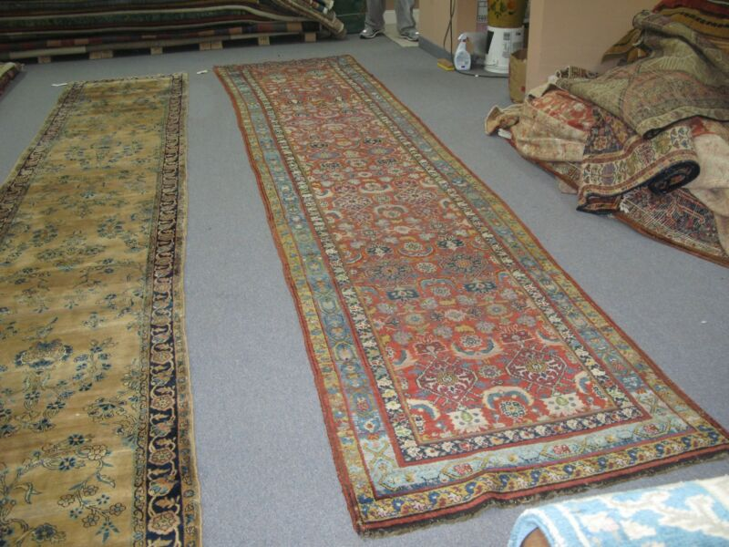 Antique Northwest  Caucasian Hand Knotted Wool Rug Runner 3