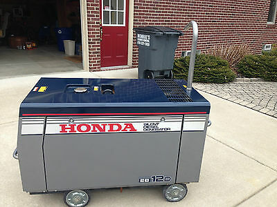 Honda EB12D 12000 Watt Diesel Generator 1.1 Hours On It. Best One On Ebay!