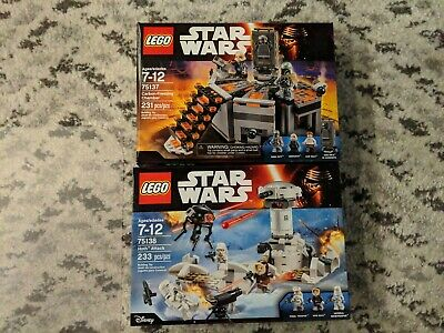 Lego Star Wars Lot 75138 & 75137 **New Sealed**