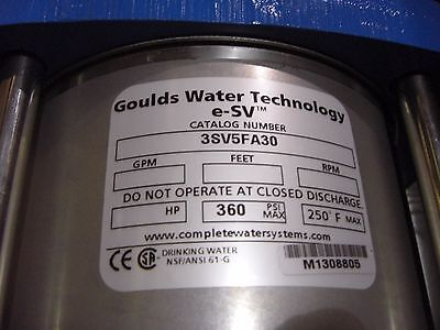 3sv5fa30 - Goulds Water Technology Industrial Pump Liquid End Kit