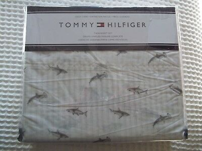 - New Tommy Hilfiger Shark Twin Bed Sheet Set