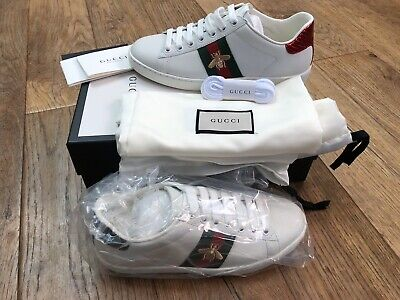 BNIB Gucci Bee ACE Trainers Eur 37 Fit UK 5