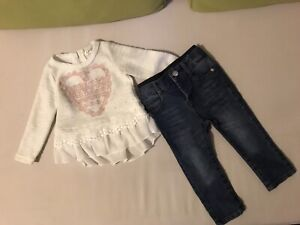 Jessica Simpson toddler jeans and top - size (12M)-
