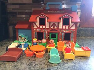Vintage Fisher Price Tudor House with people