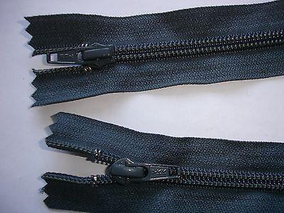 RV 363 Reißverschluß ykk dunkelgrau 65cm, teilbar als 2-Wege-RV 1 Stück