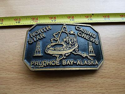 North Star Bp Exxon Prudhoe Bay Alaska Trans Alaska Pipeline Belt Buckle Oil