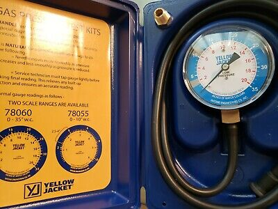 Yellow Jacket Gas Pressure Test Kit0 To 35 In Wc 78060