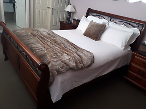 Double bed and bedside tables Cronulla Sutherland Area Preview