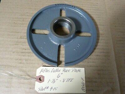 6 Face Plate 1-12 X 8 Tpi Lathe Atlas Logan South Bend Sheldon Craftsman 9-15