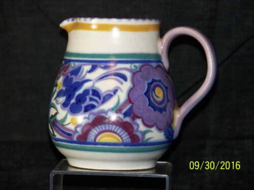 Poole Studio Art Pottery PB Pattern by Hilda Hanpton c1920-1939 Art Deco Jug