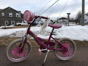 Girl's princess bicycle