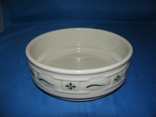 Longaberger Woven Traditions Pottery Stack-able Cereal Bowl Heritage Green USA