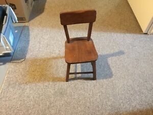 Set of 2 child chairs from 1950s and a matching table