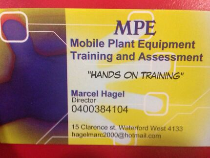 RII tickets Machinery Training and Assessment RPL/VOC