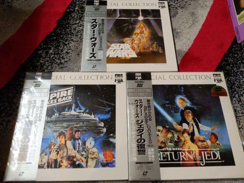 Star Wars Trilogy Special Collection Laserdisc Japan Empire Strikes Back Return