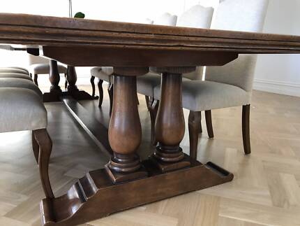 Custom made European Oak Gaudion Inspired Dining Table